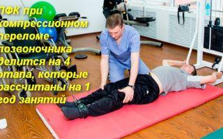 Все про реабилитацию после перелома позвоночника