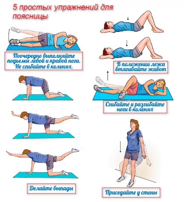 5 упражнений для поясницы