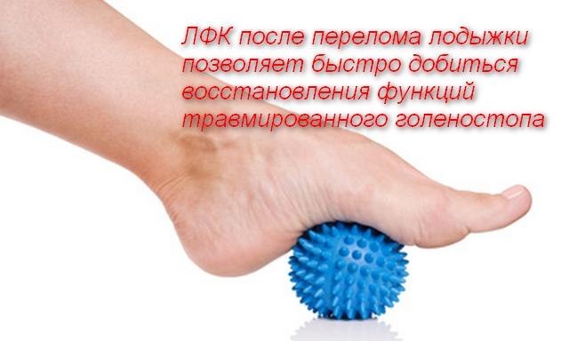 ступня на мячике