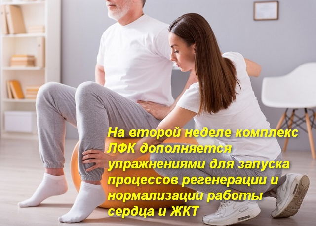 инструктор лфк помогает пациенту делать движение