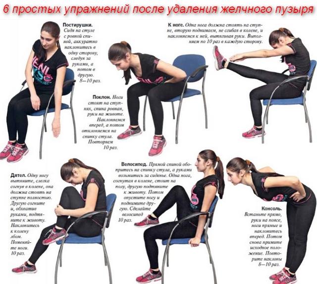 комплекс упражнений на стуле