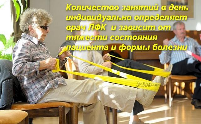 пожилые женщины выполняют упражнение сидя на стульях