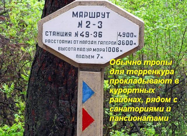 табличка с описанием маршрута тропы