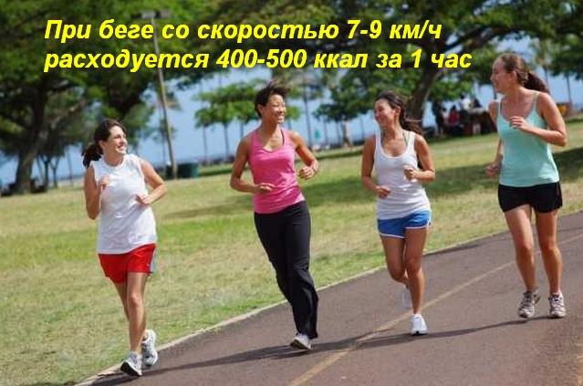 группа девушек бежит по дорожке