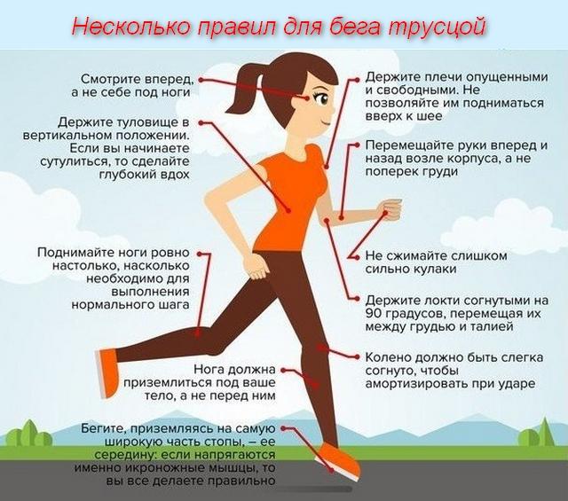список правил для бега